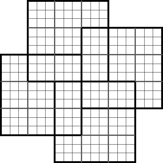 Sudoku samoura sp cial 4 grilles imprimer nonc vierge - Plusieurs grilles de sudoku a imprimer ...