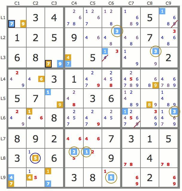 Sudoku coloriage virtuel - Coloriage virtuel ...